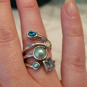 Lia Sophia Ring. Multiple colored & style stones